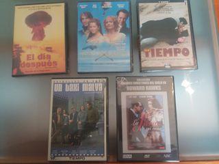 DVD cinco peliculas.