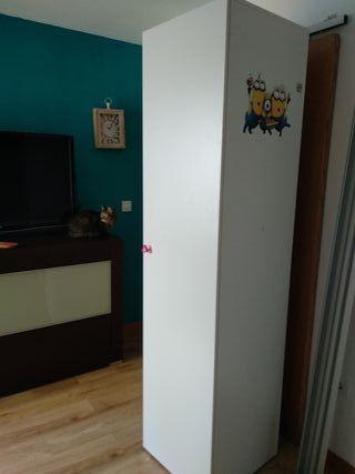 Armario blanco 1 puerta