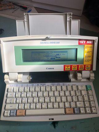 Vintage maquina de escribir electrónica