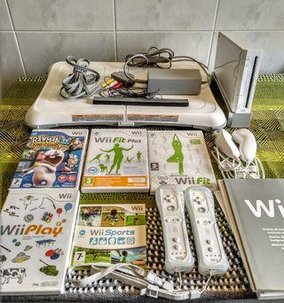 Wii con tabla Balance y juegos