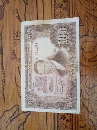 billete de 100pesetas de julio romero de torres
