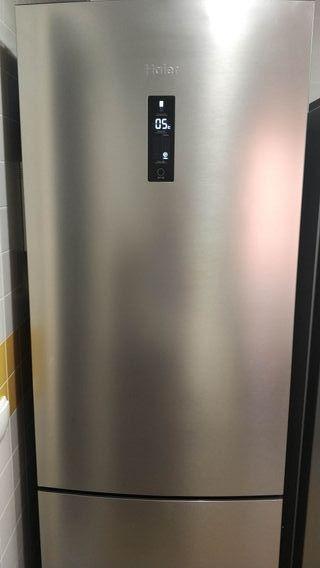 frigorífico combi Haier con no frost inox
