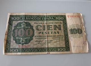 Billete 100 Pesetas Burgos 1936