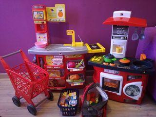 Cocina y supermercado de juguete