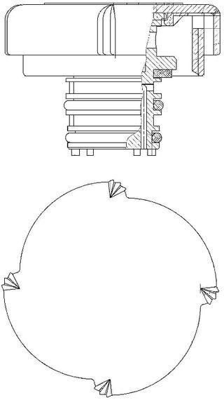 Tapón, depósito de refrigerante