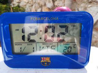 Despertador proyector parlante fc Barcelona