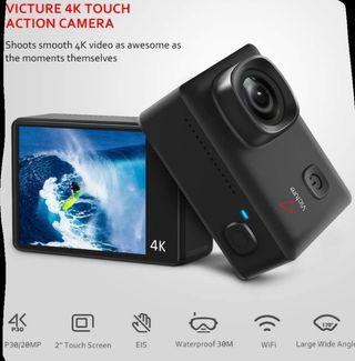 cámara deportiva 4k pantalla táctil 20 MPX