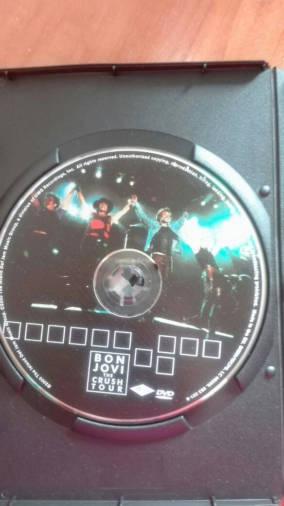 Bon Jovi. The Crush Tour. DVD