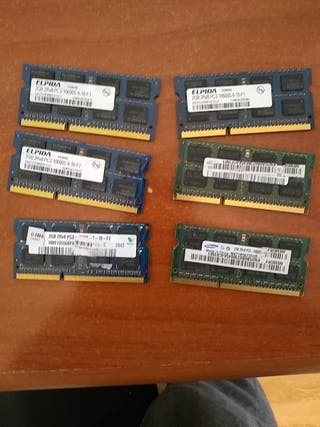 Memorias portátil 2gb DDR3 1333