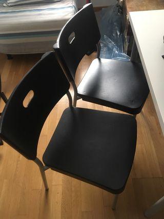 Sillas Ikea Negras