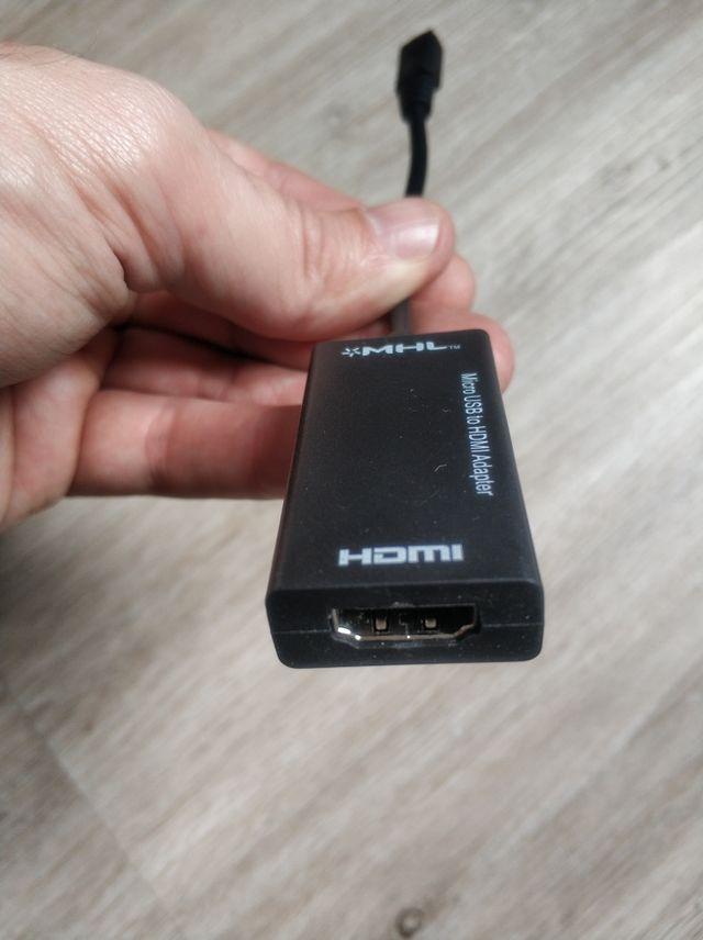 Cable conversor convertidor micro usb a hdmi