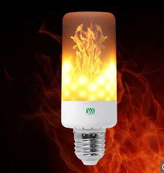 Bombilla LED con llama cálida de fuego