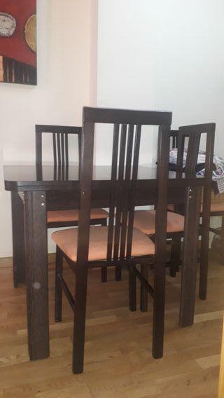 Mesa plegable + 4 sillas