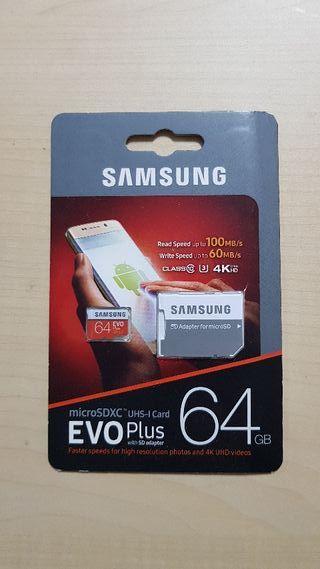 Tarjeta Memoria Micro Sd Samsung 64gb