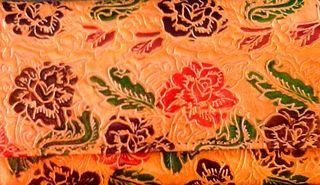 Cartera marroquí con flores