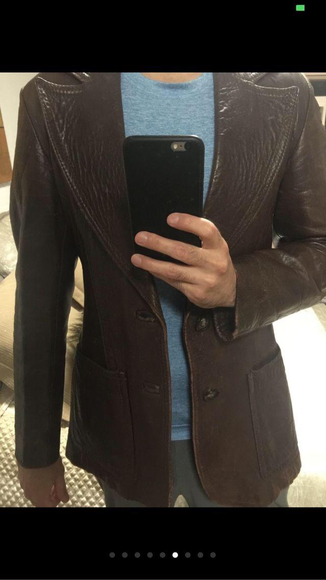 Espectacular y único chaqueton piel antiguo