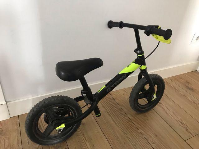Bicicleta niño 2-3 años sin pedales con freno