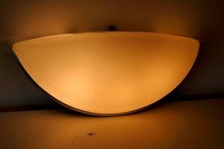 Lámpara aplique de pared vintage años 80 metal