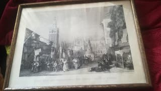 Antiguo grabado de Sevilla