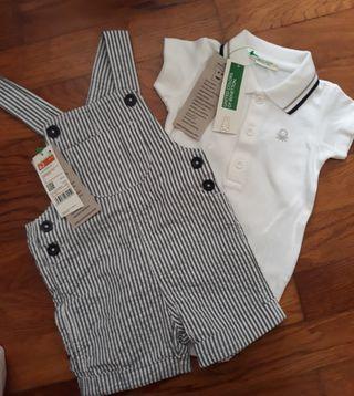 conjunto peto y camiseta/body