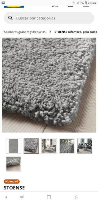 alfombra gris