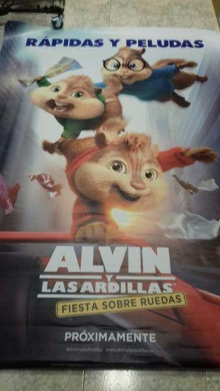 CARTEL DE CINE ORIGINAL ALVIN Y LAS ARDILLAS 2018