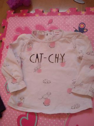camisetas niña Zara