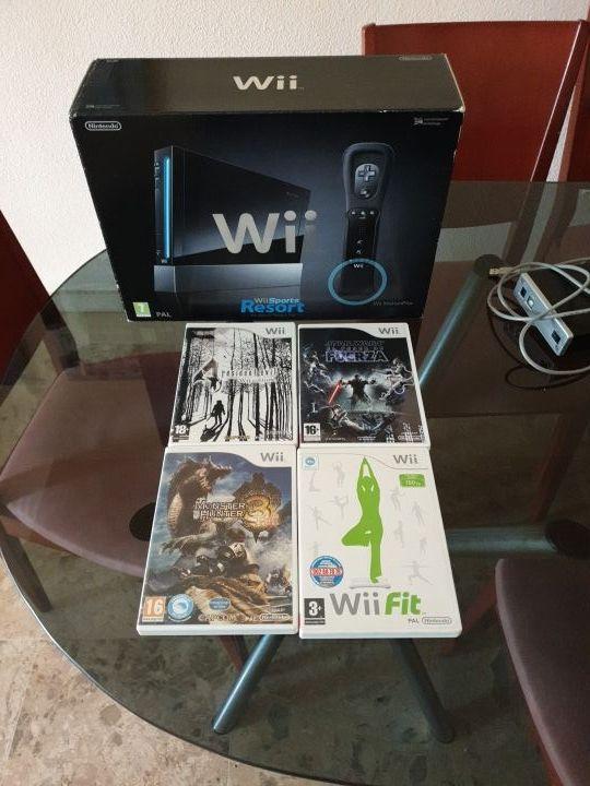 Wii Negra Juegos Accesorios