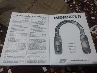 USB 2.0 cable MIDI Interface 2 I/O Ports