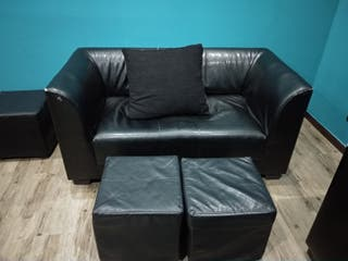 sofas polipiel sofa negro ,puff sofa 2 plazas