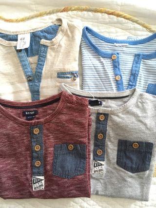 Lote de camisetas 24 meses
