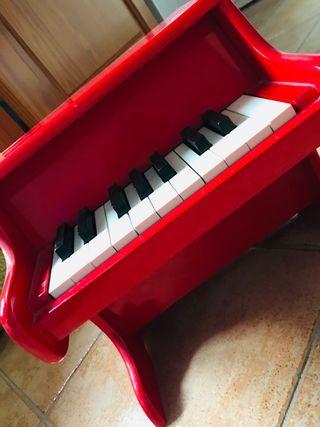 Piano de juguete de madera