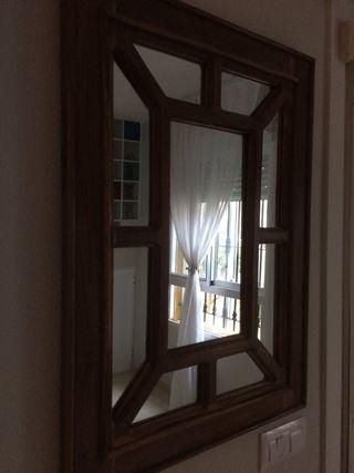 Espejo madera maciza