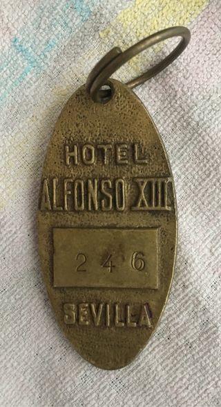 LLAVERO HABITACIÓN HOTEL ALFONSO XIII.SEVILLA
