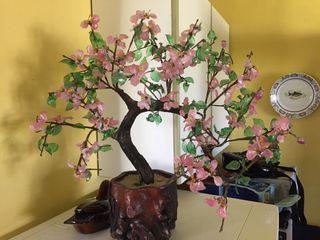Bonsai decorativo de cristal