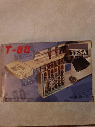 cerradura bombin de seguridad tesa t-80