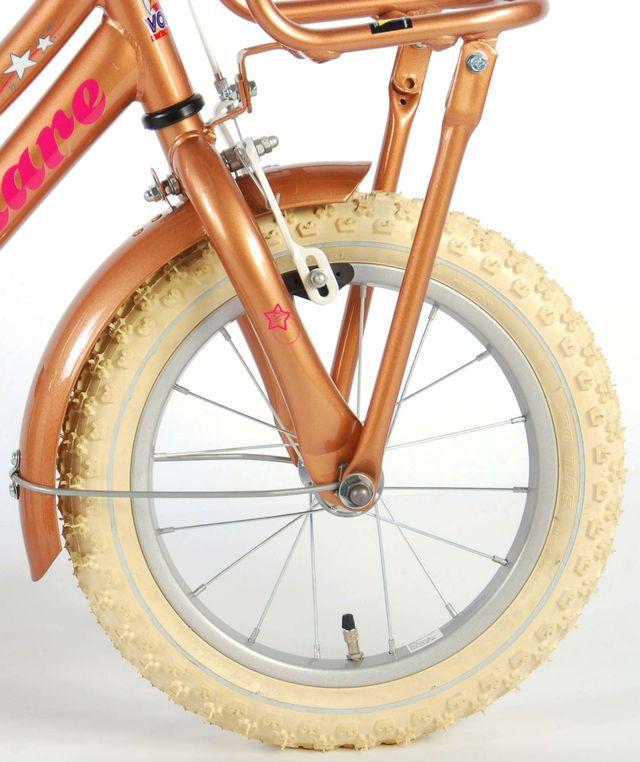 """Bicicleta infantil Volare Lovely Stars dorado 14"""""""