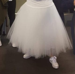 falda tul blanca novia boda