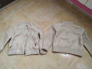 2 chaquetas de cuero beige