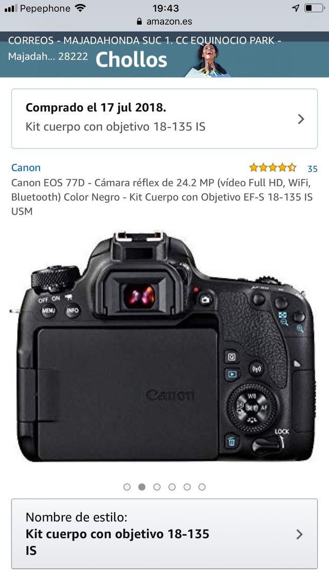 Canon Eos 77D Nueva