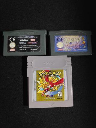 Juegos sueltos Game Boy y Game Boy Advance