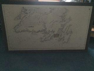 Carta marina antigua encuadernada