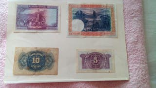 billetes antiguos.