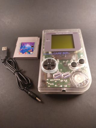 Nintendo Game Boy transparente + Tetris +Cable USB