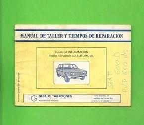 MANUAL DE TALLER Y TIEMPOS DE REPARACION