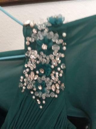 Vestido fiesta talla 46/48 con capa mujer