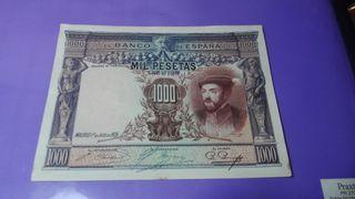 billete 1000 pesetas 1925