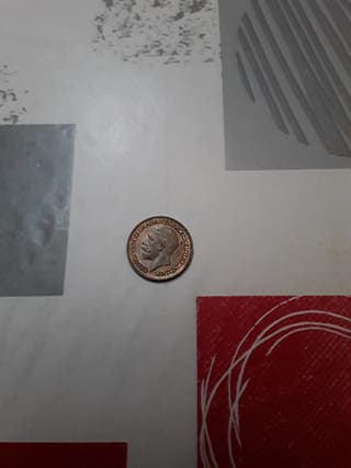 monedas. farthing's GB Jorge V.