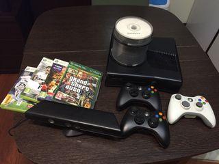 Xbox 360+kinect+3 mandos+4 juegos