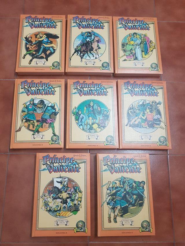 colección de 8 tomos del príncipe valiente